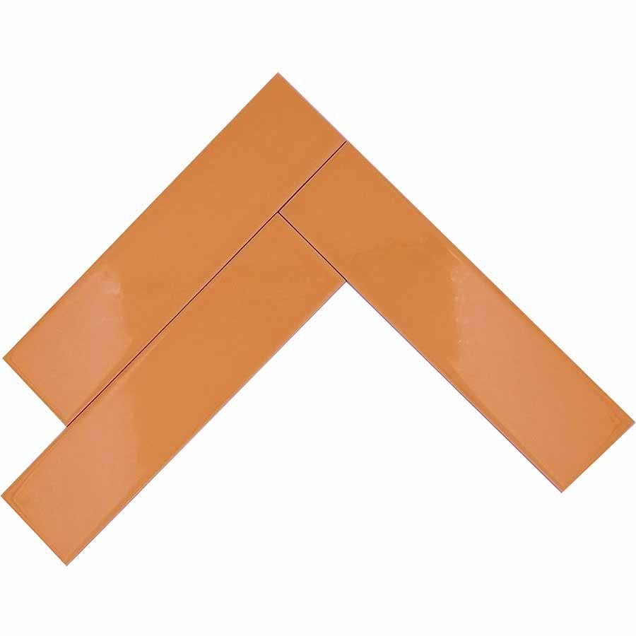 Orange Glossy Ceramic Subway Tiles - Creamsicle