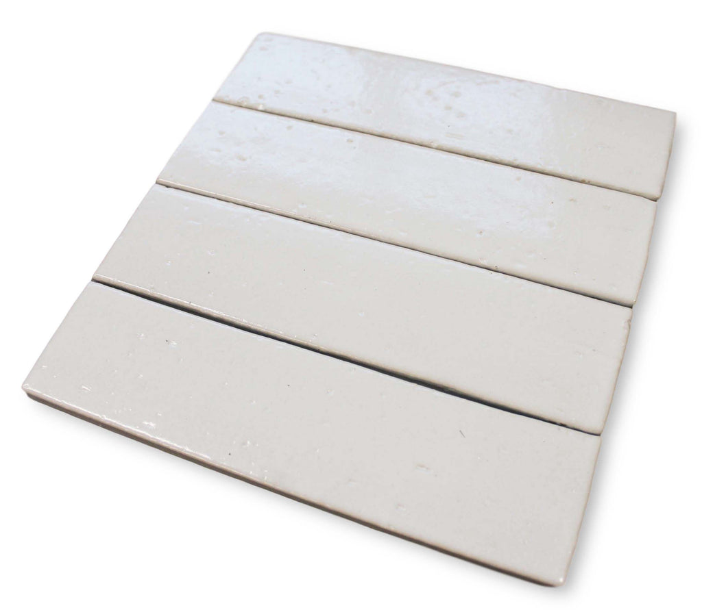 "Atlanta 9.5"" x 2.5"" Glazed Porcelain Subway Tiles - White"