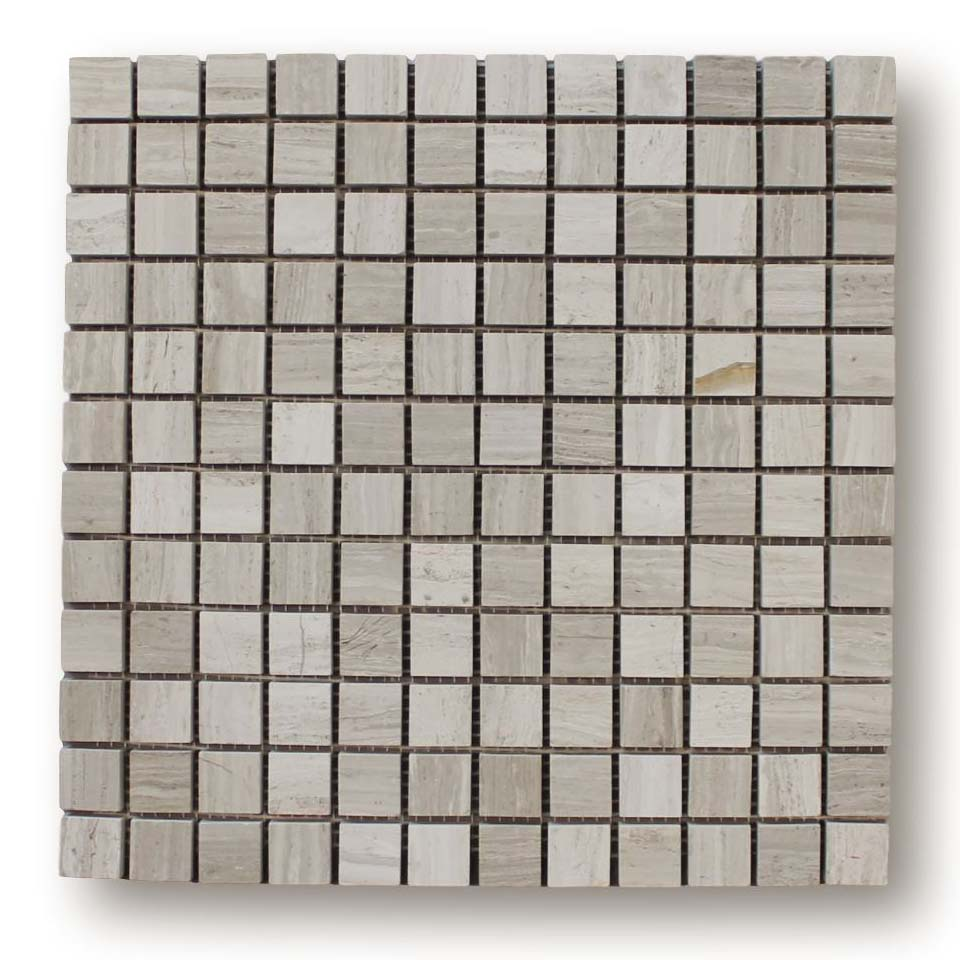 Driftwood Marble 1x1 Square Mosaic Tiles