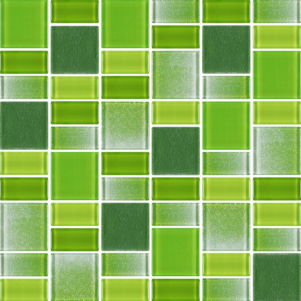 Fusion Green Glass Mosaic Tiles Rocky Point Tile