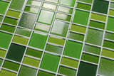 Fusion Green Glass Mosaic Tiles - Rocky Point Tile - Glass and Mosaic Tile Store
