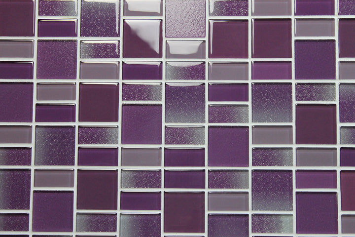 Fusion Purple Glass Mosaic Tiles Rocky Point Tile