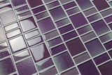Fusion Purple Glass Mosaic Tiles - Rocky Point Tile - Glass and Mosaic Tile Store