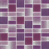 Fusion Purple Glass Mosaic Tiles