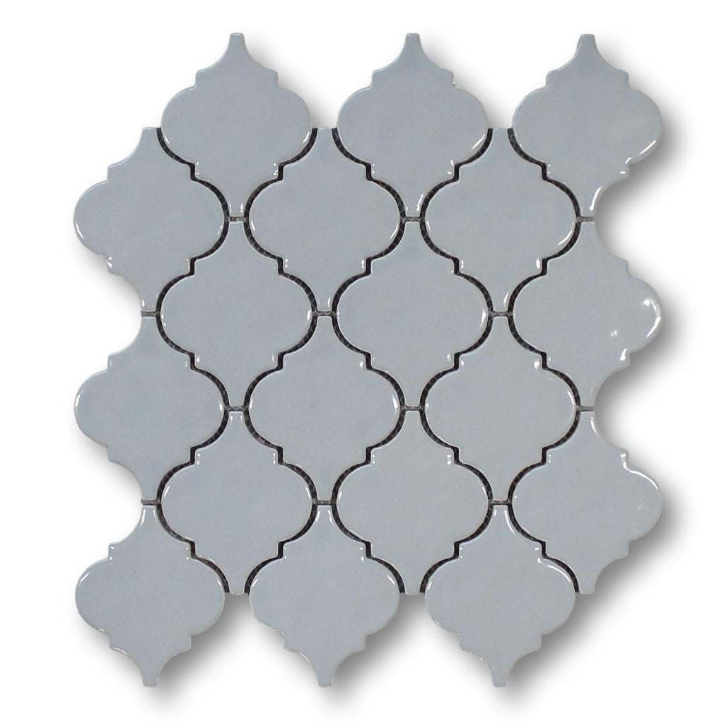 Ceramic Arabesque Mosaic Tiles - Gray
