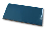 "Hello 3"" x 6"" Porcelain Subway Tiles - Glossy Blue"