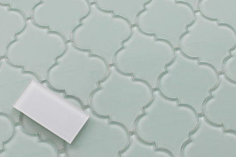 Ice Age Arabesque Glass Mosaic Tiles - Rocky Point Tile - Glass and Mosaic Tile Store