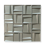 Illusion II 3D 3x3 Beveled Glass Mosaic Tiles - Erinite