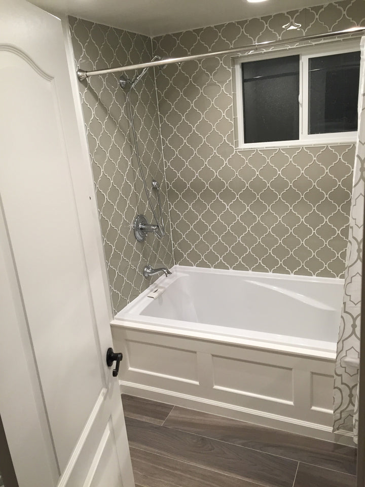 Country Cottage Arabesque Glass Mosaic Tiles – Rocky Point Tile ...