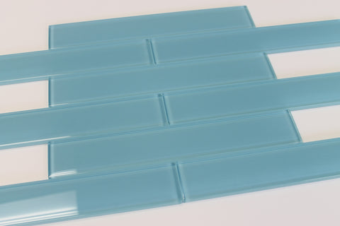 Infinity Blue 2x12 Glass Subway Tiles - Rocky Point Tile - Glass and Mosaic Tile Store