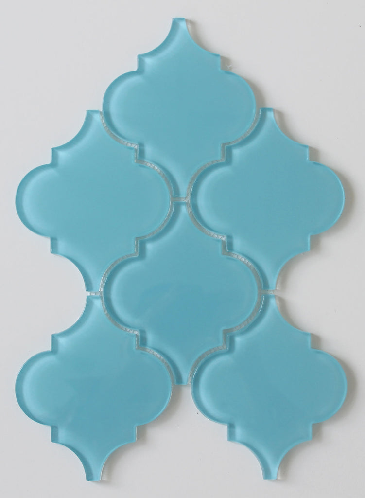 Infinity Blue Arabesque Glass Mosaic Tiles - Rocky Point Tile - Glass and Mosaic Tile Store