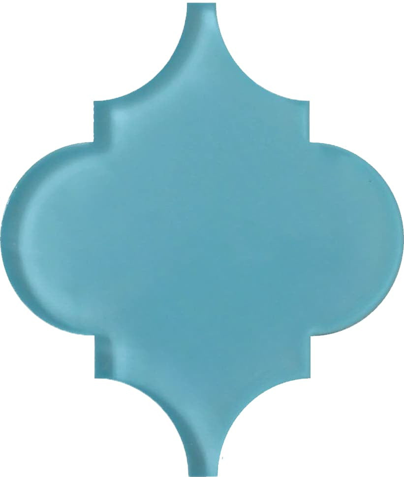 Infinity Blue Arabesque Glass Mosaic Tiles – Rocky Point Tile ...