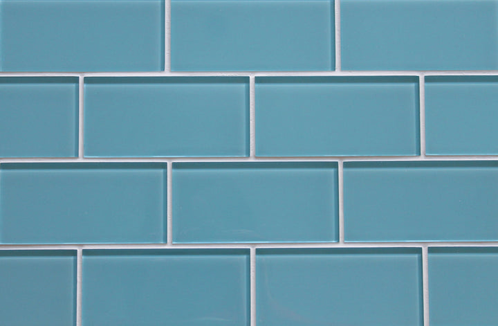 Infinity Blue 3x6 Glass Subway Tiles Rocky Point Tile
