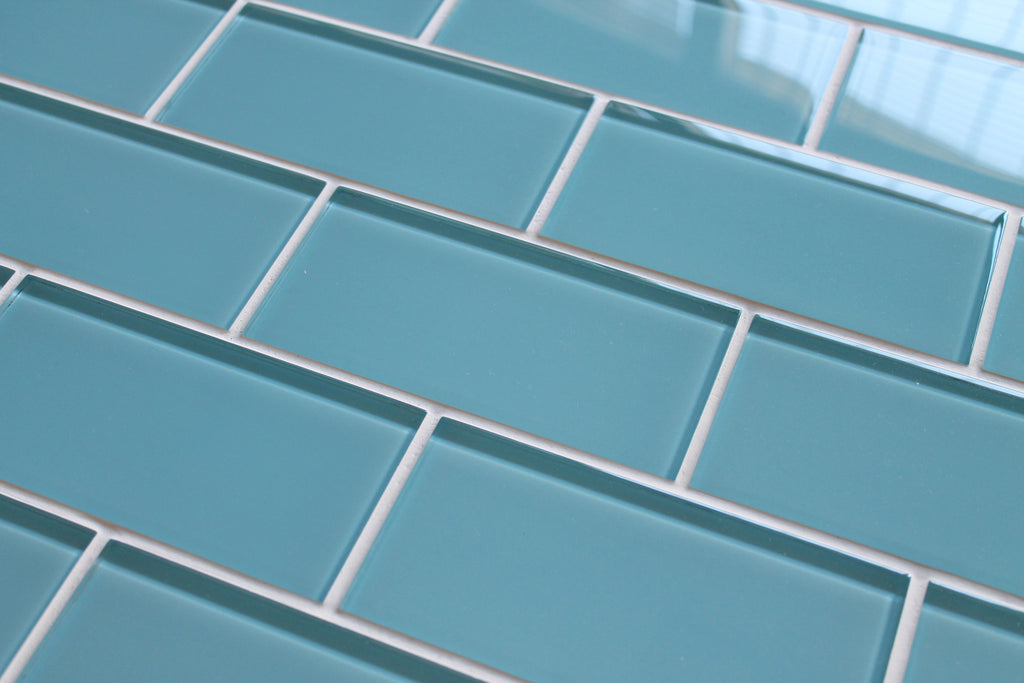 3 x 6 SAMPLE Infinity Blue 3x6 Glass Subway Tiles