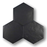 "Konzept Glazed Porcelain 7"" x 8"" Hexagon Tiles - Terra Nera Matte"