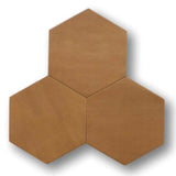 "Konzept Glazed Porcelain 7"" x 8"" Hexagon Tiles - Terra Cotta Matte"