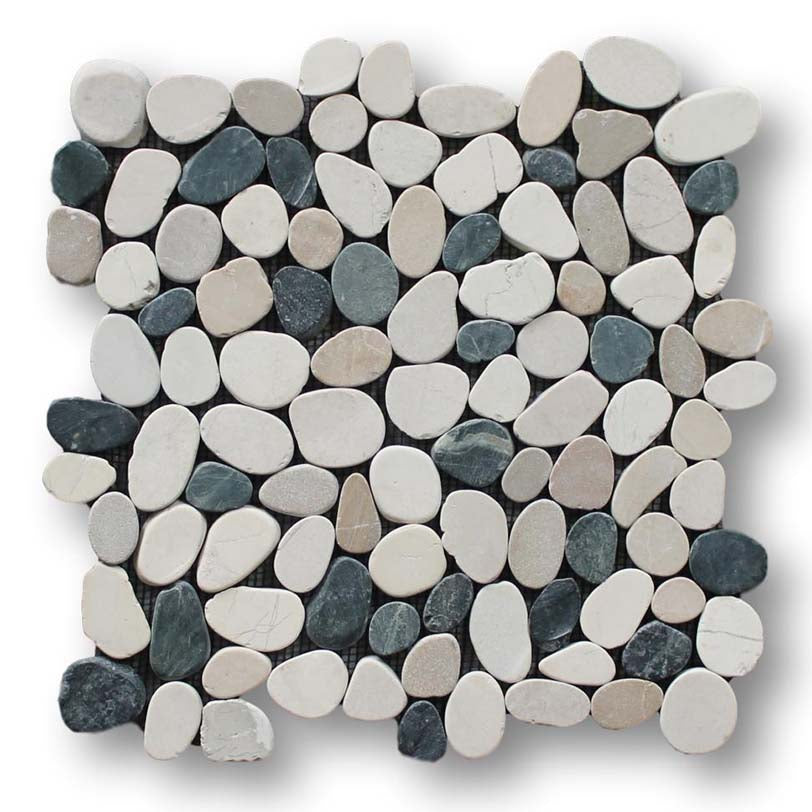 Island Pebble Stone Mosaic Tiles - Level Blend