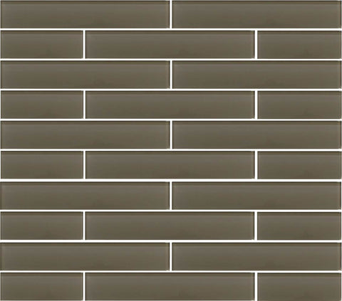 Manhattan Taupe Brown 2x12 Glass Subway Tiles - Rocky Point Tile - Glass and Mosaic Tile Store