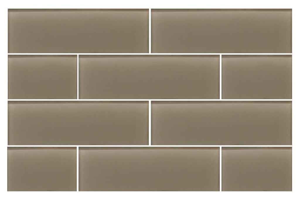 Manhattan Taupe Brown 4x12 Glass Subway Tiles Rocky Point Tile