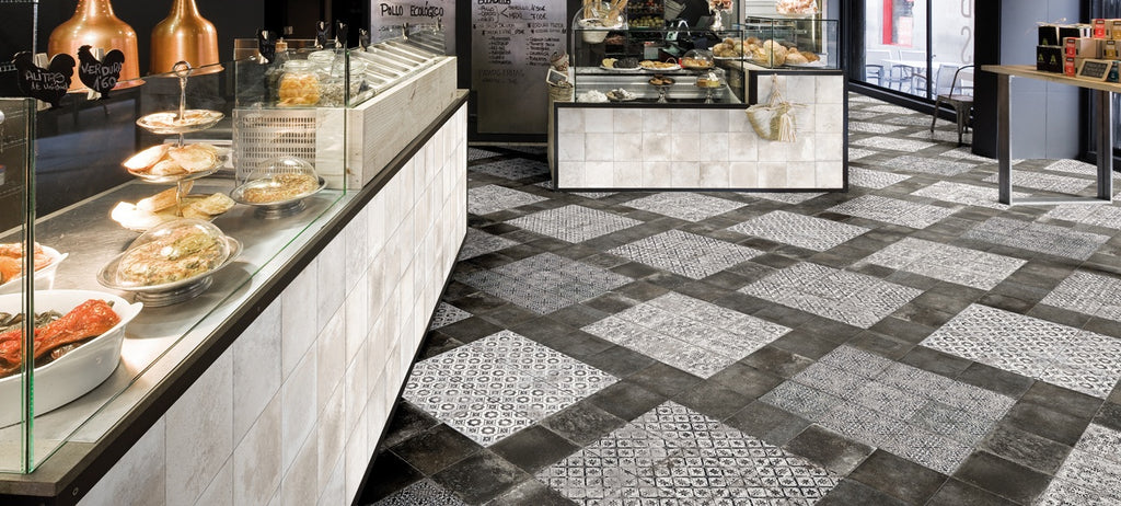 Mariner 900 8x8 Glazed Porcelain Pattern Floor Tiles - Nera Decor Maioliche 9