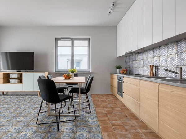 Mariner 900 8x8 Glazed Porcelain Pattern Floor Tiles - Cotto