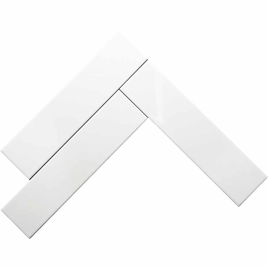 Bright White Glossy Ceramic Subway Tiles - Marshmallow