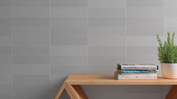 "Tencer Gradient 3"" x 12"" Glazed Ceramic Subway Tiles - Matte Greige"