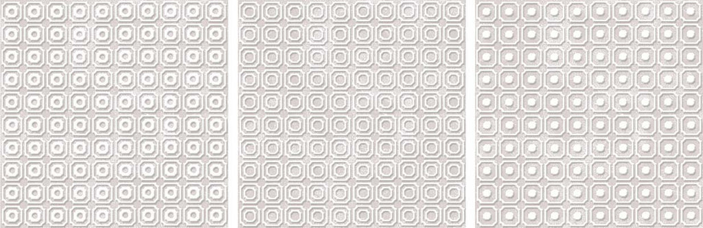 "Melody 8"" x 8"" Glazed Porcelain Patterned Tiles - Pink and White Blend"