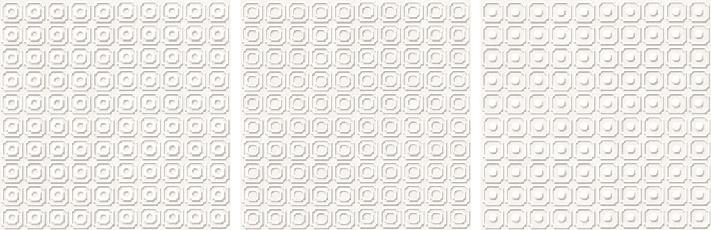 "Melody 8"" x 8"" Glazed Porcelain Patterned Tiles - White"