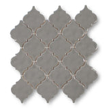 Ceramic Arabesque Mosaic Tiles - Mud