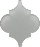 Pearl Grey Arabesque Glass Mosaic Tiles