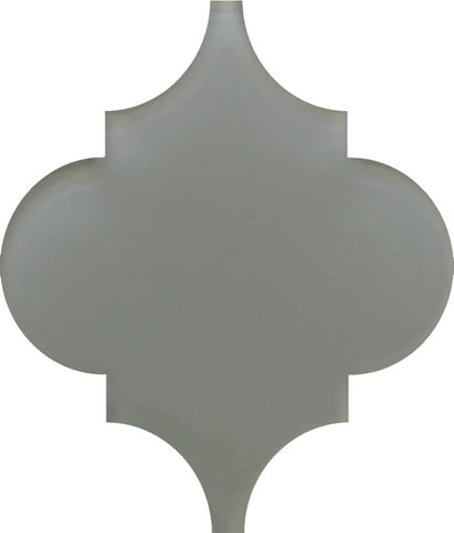 Pebble Grey Arabesque Glass Mosaic Tiles - Rocky Point Tile - Glass and Mosaic Tile Store