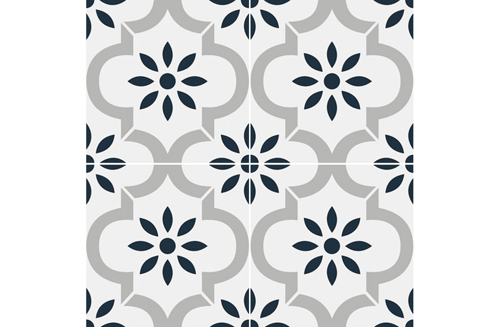 Picasso Porcelain 8″ × 8″ Cement Look Tiles - Castillo Blue Gray