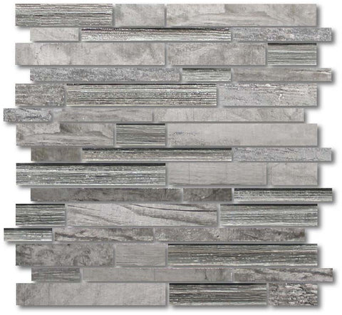 Dockside Porcelain and Glass Mosaic Strips - Gale