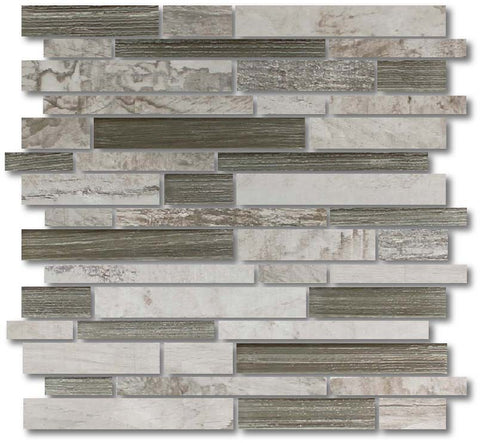 Dockside Porcelain and Glass Mosaics Strips - Dawn