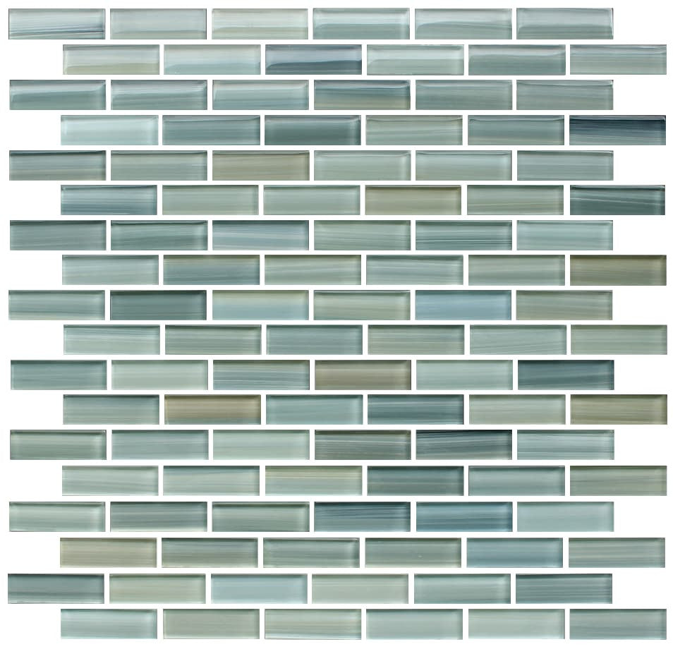 Reflections hand painted glass mosaic subway tile rocky for Glass tile texture