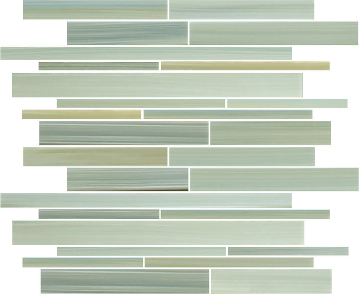 reflections hand painted linear glass mosaic tiles rocky point tile glass and mosaic tile