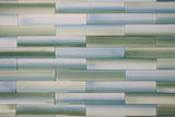 Rip Curl Hand Painted 2x12 Glass Subway Tiles - Rocky Point Tile - Glass and Mosaic Tile Store