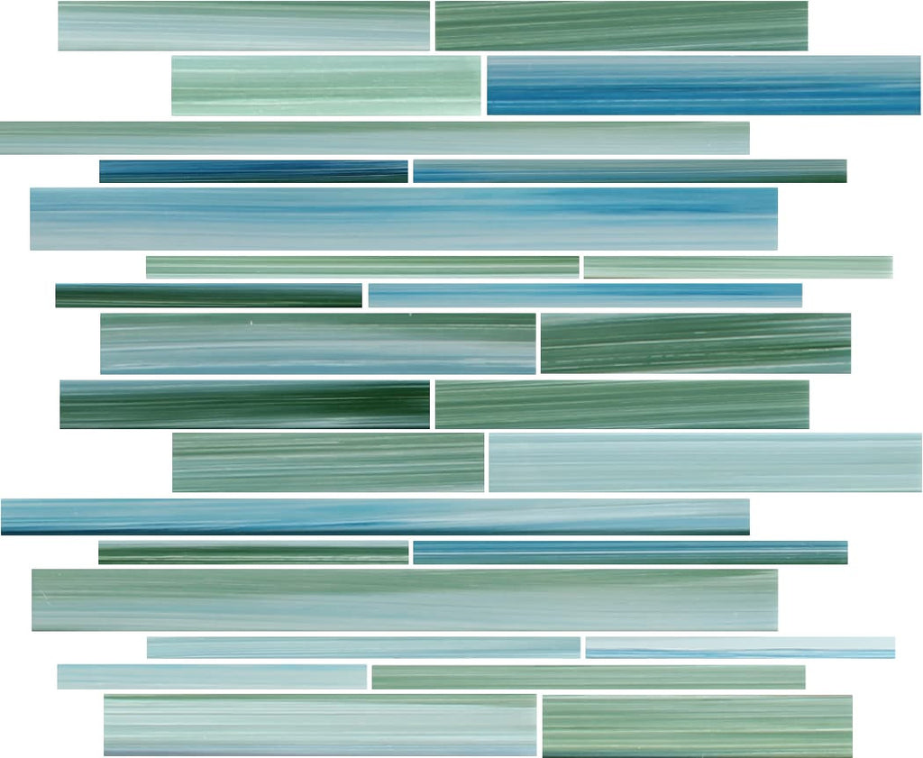 Rip Curl Hand Painted Linear Glass Mosaic Tiles – Rocky Point Tile ...