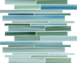 Rip Curl Hand Painted Linear Glass Mosaic Tiles