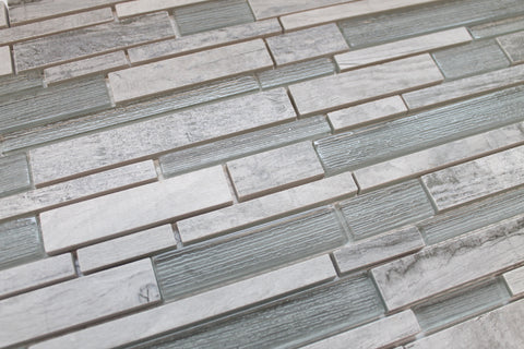 Dockside Porcelain and Glass Mosaics Strips - Rollers