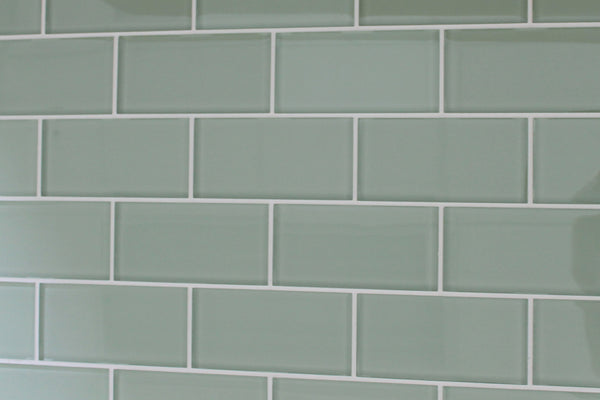 Sage 3x6 Glass Subway Tiles Rocky Point Tile Online
