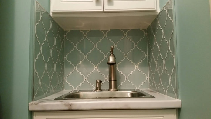 4x12 Marble Subway Tile Backsplash