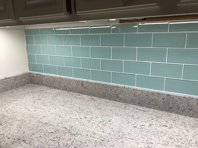 Seafoam 3x6 Glass Subway Tiles