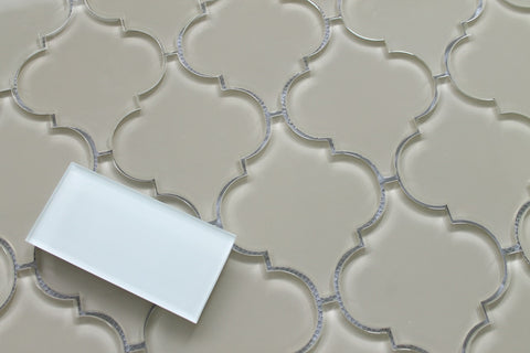 Sheep's Wool Arabesque Glass Mosaic Tiles - Rocky Point Tile - Glass and Mosaic Tile Store