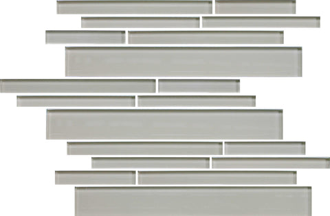 Sheep's Wool Beige Linear Glass Mosaic Tile - Rocky Point Tile - Glass and Mosaic Tile Store
