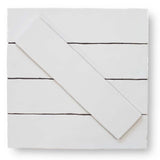 Tencer Tiempo 3 x 12 Ceramic Subway Tiles - Simply White
