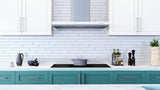 Snow White 2x12 Glass Subway Tiles - Rocky Point Tile - Glass and Mosaic Tile Store