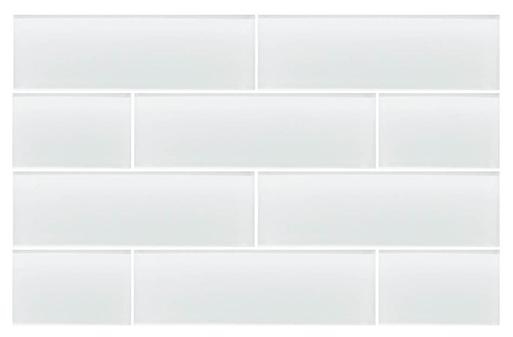 Snow White 4x12 Glass Subway Tiles Rocky Point Tile Glass And