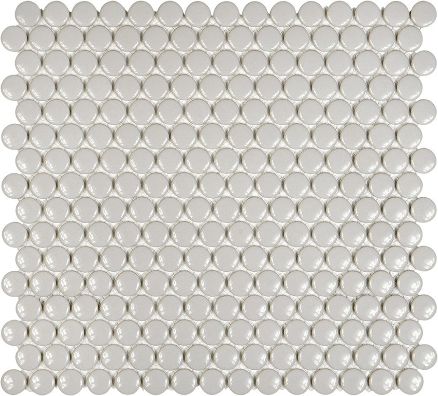 Glazed Porcelain Penny Round Mosaic Tiles - 3/4 Inch Gray - 10 Square Feet - Rocky Point Tile - Glass and Mosaic Tile Store